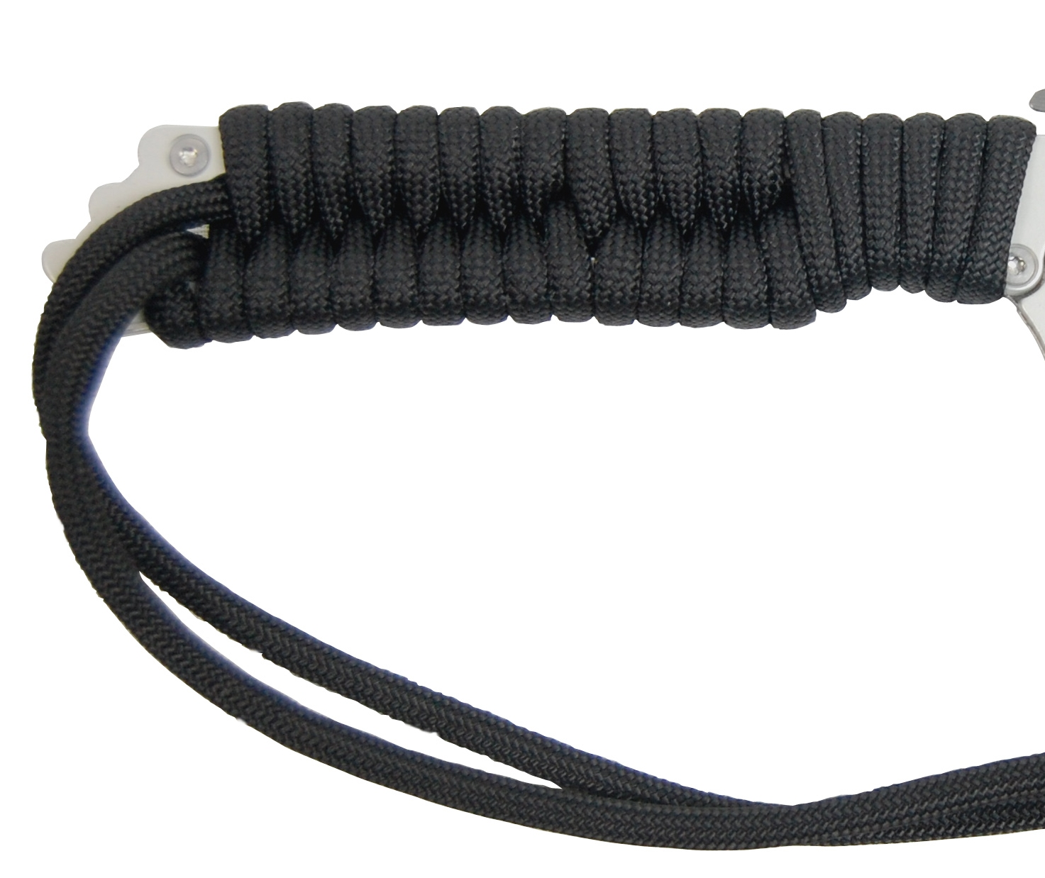 Handle Wrapped with Black Paracord
