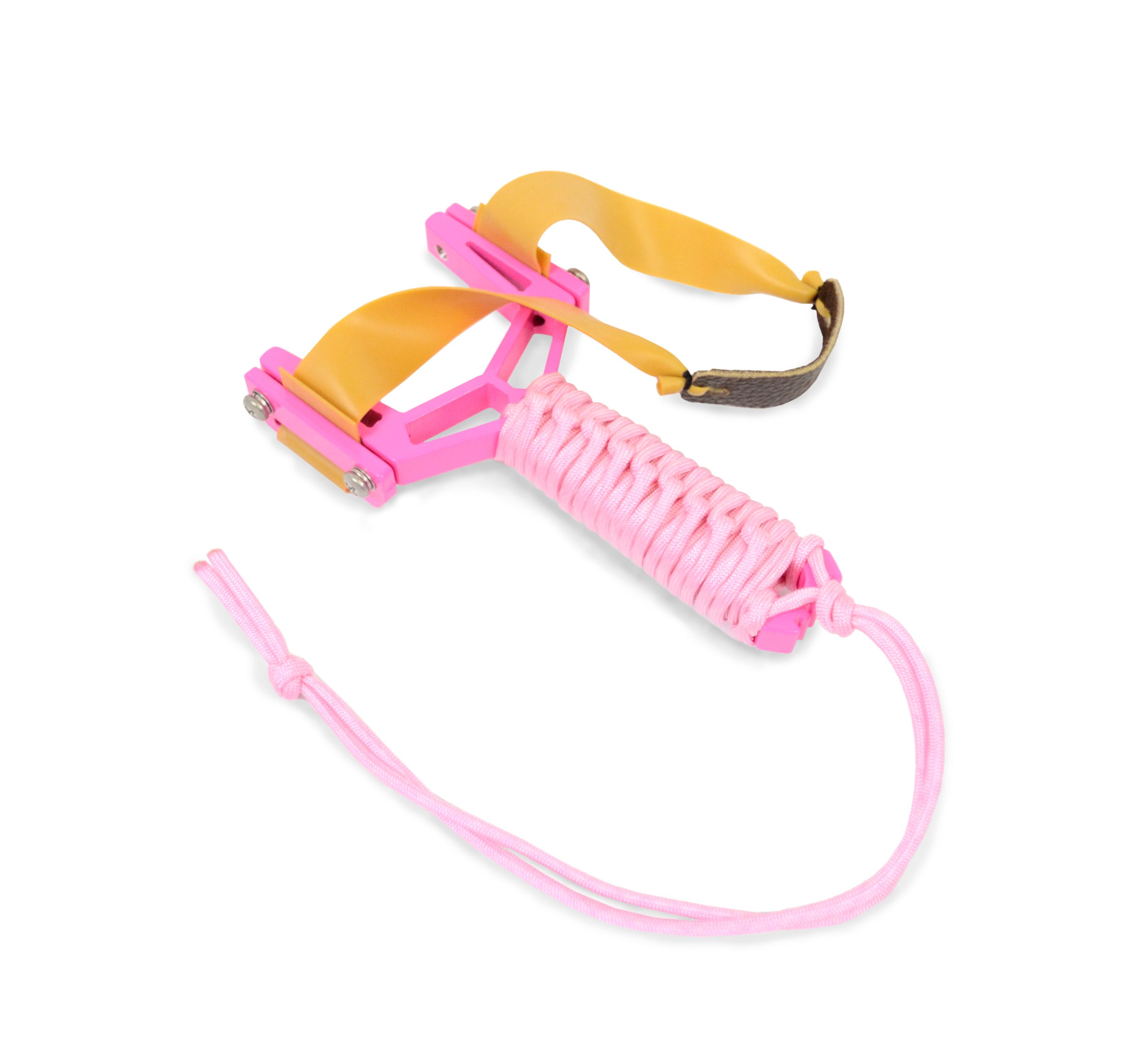 Montie Gear Y-Shot Slingshot -Pink Frame / Pink Wrap