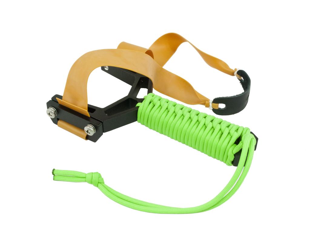 Montie Gear Y-Shot Slingshot - Black Frame / Zombie Green Wrap